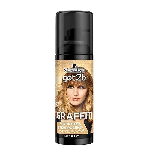 Schwarzkopf got2b GRAFFITI Farbspray, Princess GOLD, Haarspray, 1er Pack (1 x 120ml)