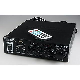 ChiliTec 100 Watt HiFi-Verstärker Kompakt MP3 Cinch In Stereo SD-Slot Fernbedienung CTA-100 USB