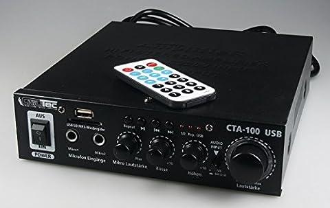 100 Watt HiFi-Verstärker Kompakt MP3 Cinch In Stereo SD-Slot Fernbedienung