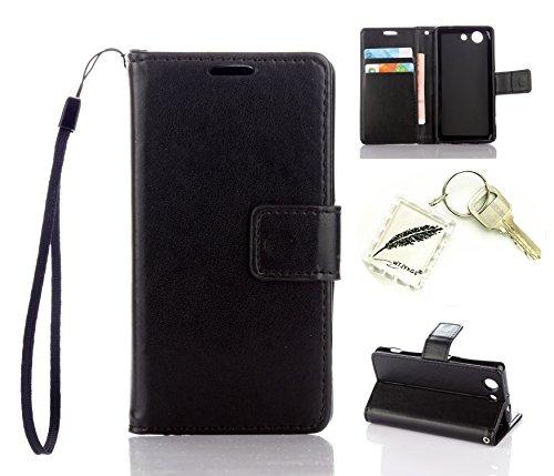 Preisvergleich Produktbild Silikonsoftshell PU Hülle für Sony Xperia Z3 COMPACT /Z3 Mini (4,6 Zoll) Tasche Schutz Hülle Case Cover Etui Strass Schutz schutzhülle Bumper Schale Silicone case+Exquisite key chain X1) #KA (5)