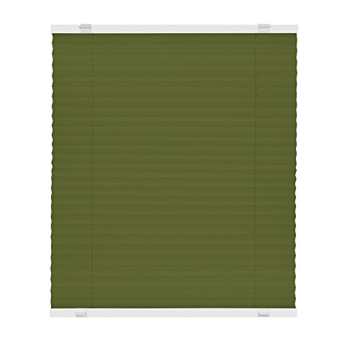 VICTORIA M Plissee Klemmfix ohne Bohren - EasyFix Größe: 60 x 200 cm, Farbe: grün