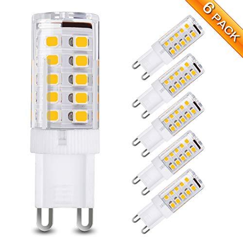 Elfeland G9 LED Lampe led Glühlampen Leuchtmittel Birnen 230 LM 2.5W Ersatz 30W Halogenlampe Nicht Dimmbar Kein Flackern Beleuchtung Warmweiß 3000k AC 220V 360° Abstrahlwinkel 6 Pack
