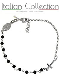 ItalianCollection - Bracciale Rosario in Argento 925% Made in Italy
