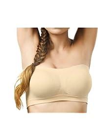 BoldnYoung women's tube bra, skin, Free size