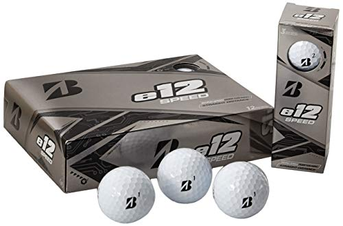 Bridgestone E12 Speed Lot de 12 balles de Golf, Homme, e12...
