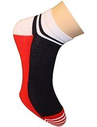 Weri Spezials Chaussettes (Sniakers) pour Hommes. Couleur: Rouge, Moderne et Sportive