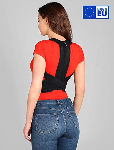 ®BeFit24 Premiumklassiger Geradehalter zur Haltungskorrektur für Rücken und Schulter für Damen und Herren - Wirbelsäulen Stütze - Back Posture Corrector for Men and Women [ Size 3 - Schwarz ]