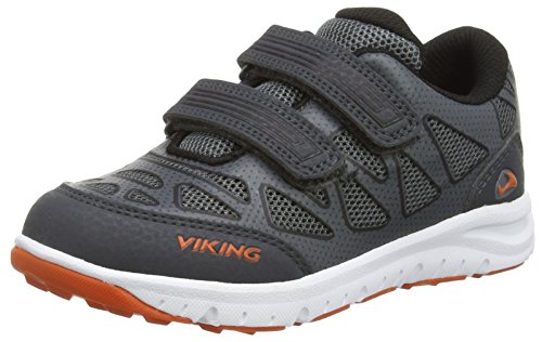 Viking Doenna Velcro, Baskets Basses mixte enfant Gris - Grau (Black/Charcoal 277)