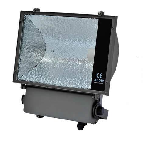 Flutlichtstrahler 250W/400W E40 komplett Fluter HQI IP65 GTV symmetrisch (400W) (Uv Sun Bright)