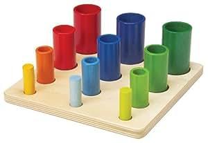 GoGo Wooden Tube Sorting Game by Gogo (English Manual)