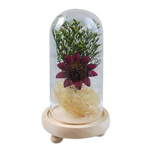 (Jamicy LED Dekoration für Weihnachten, künstliche Blumen, romantische Glas Rose Hochzeitsdekoration Heimtextilien DIY Haus Garten Dekor (Hot Pink))