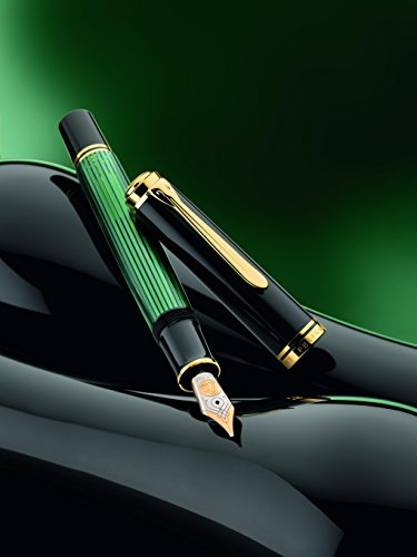 Deals For Pelikan Souverän M600 Plunger Fountain Pen – Black/ Green on Amazon