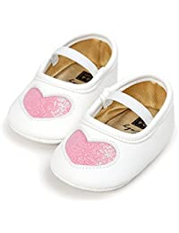 FemmeStopper Baby Shoes Baby Unisex Shoes First Walkers Hearts Shapes Patterns Toddler Baby Soft Soled Shoes Newborn Baby Girls Love Shoes Princess