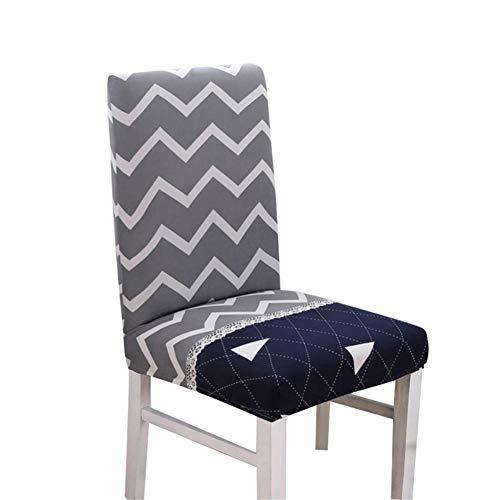 WUYANES Stuhlbezüge mit Stretchrücken Elastischer Stuhlbezug für eine universelle Passform, Spandex-Paar Sehr pflegeleichter und langlebiger Sitzbezug - 4 Parson Stühle