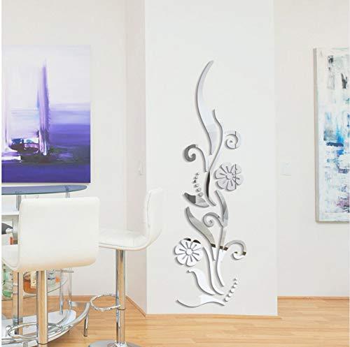 Kreative Diy Blume Poster Dekorative Rambling Vine Acryl Spiegel Wandaufkleber Hauptwanddekor 3D Raumdekoration Decals Rambling Vine