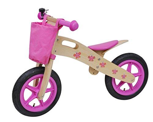 Siva 90110 - Bicicletta Senza Pedali per Bambini, in Legno, Colore: Rosa