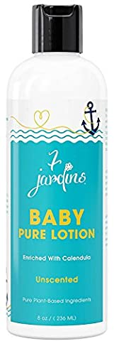 7 Jardins Unscented Natural Baby Pure Lotion - Daily Body Moisturizer For All Skin Types. Safe And Sulfate Free - 8 Oz.