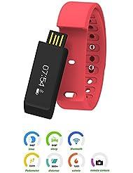 Bracelet Bluetooth Smart & # xff0C; ansoco® & # xff0C; équipement Geek i5Plus Smart Watch Sport Fitness Tracker pour Smartphone Podomètre Calories de suivi Santé de Sommeil Fitness app pour Android IOS