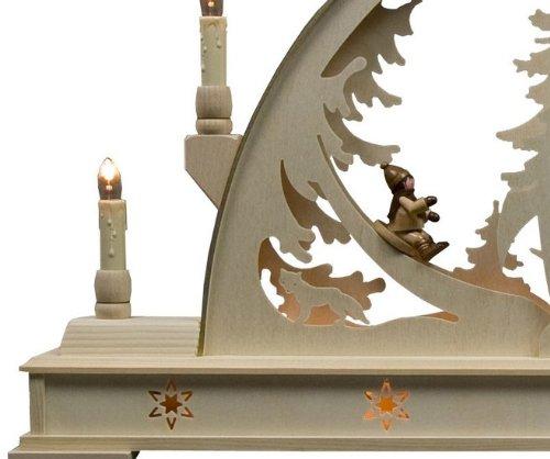 Candle Arch - Winterchildren - 78 x 45 cm / 31 x 18 pulgadas - Dregeno Seiffen