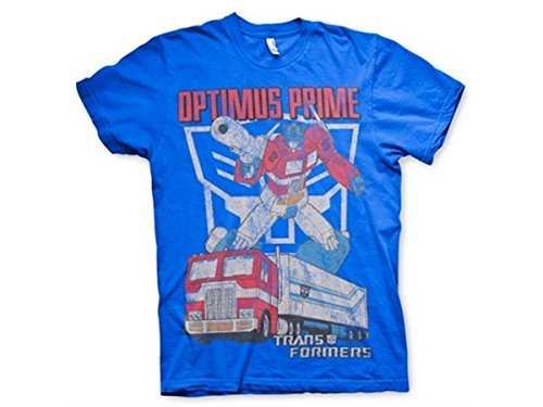 Transformers - T-Shirt - Manches Courtes - Homme -  bleu - Medium