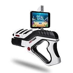 Idea Regalo - Pistola da Giochi Virtuali AR Game Gun, CompraFun Bluetooth Virtual Game Gun Giocattolo per Telefoni Android e IOS, 360 °AR Game Controller, Regalo Ideale per Bambini di 6-15 Anni