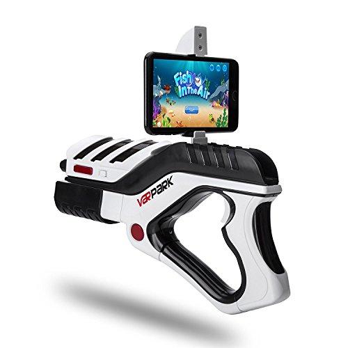 AR Game Gun, CompraFun Pistola de Juegos Virtuales para Teléfonos Android y IOS, 360 ° Controlador de Juegos AR Bluetooth, Regalo Ideal para Niño de 6-15 Años.
