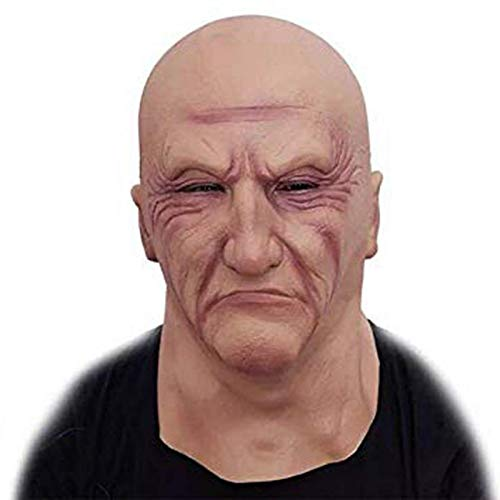 Cosplay Scary Full Head Latex Maske Halloween-horror Funny Cosplay Party Maske Old Man Head Helmet Maskieren Dropshipping