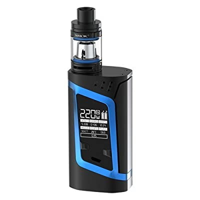 Smok Alien Kit - 220w Temperature Controlled Mod with 2ml TFV8 Baby Tank - 100% Authentic from Premier Vaping (Black/Blue) von Smok