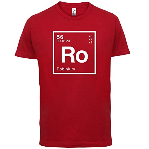 Robin Periodensystem - Herren T-Shirt - 13 Farben Rot