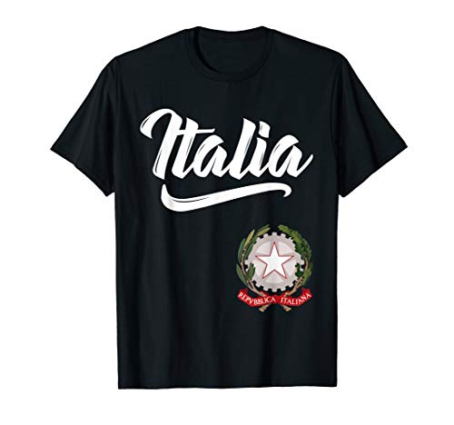 Italia Italian Coat of Arms Italy Italiano Family Men Women T-Shirt -