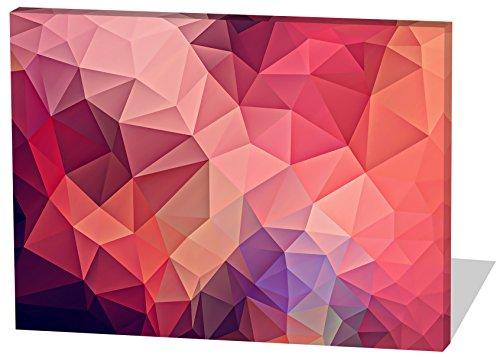 Abstrakt, Gemälde Effekt, schönes und hochwertiges Leinwandbild zum Aufhängen in XXL - 60cm x 40cm, echter Holzrahmen, effektiver Pigmentdruck, modernes Design für Ihr Büro oder Zimmer