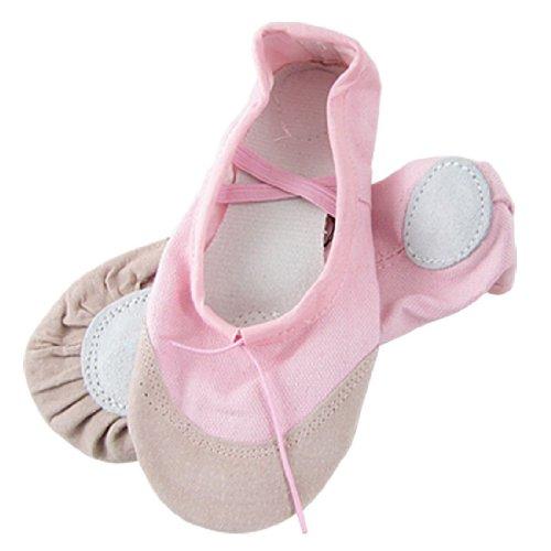 TOOGOO(R) Maedchen-rosa Elastic Kordelzug Top Line Ballett Wohnungen Schuhe US 13 (Rosa Mädchen Ballett Wohnungen Schuhe)