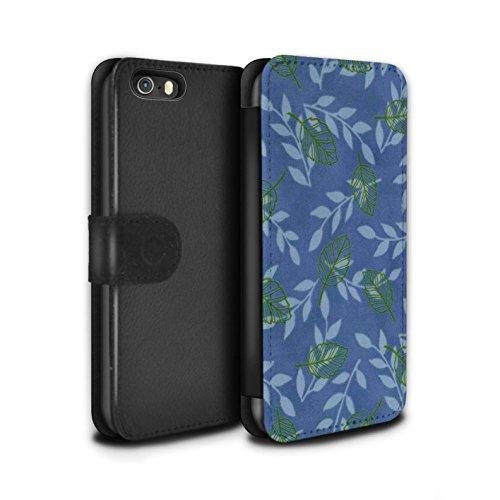 Stuff4 Coque/Etui/Housse Cuir PU Case/Cover pour Apple iPhone 5/5S / Pack (6 pcs) Design / Motif Feuille/Branche Collection Bleu/Vert