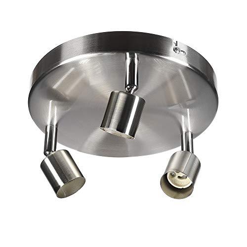 sweet-led SW-18S serieDeckenleuchte,schwenkbare Decken-Lampe, flammig,mit beweglichen Decken-Spots,Wohnzimmerlampe,Deckenstrahler, Metall,230V,GU10,IP20 (3-flammig-Rund) - Runde Esszimmer-serie