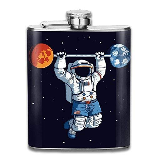 hdghgfjfghjd Edelstahlflasche Weinflasche Astronauts On The International Space Station Exercise Gifts Top Shelf Flasks Stainless Steel Flask Wine Bottle Bar Flagon Set -
