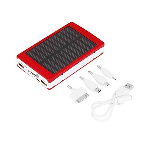 Candybarbar 20000mAh Tragbares Not-Super-Solar-Ladegerät mit Zwei externen USB-Akkus für Mobiltelefone und Tablets