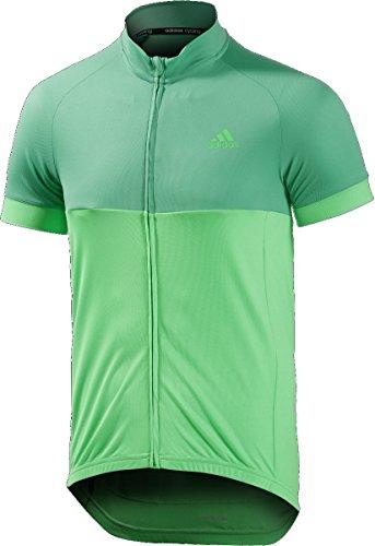 adidas Cycling Herren Radtrikot response team short sleeve jersey Bright s15/flash Green s15/Grey, M -