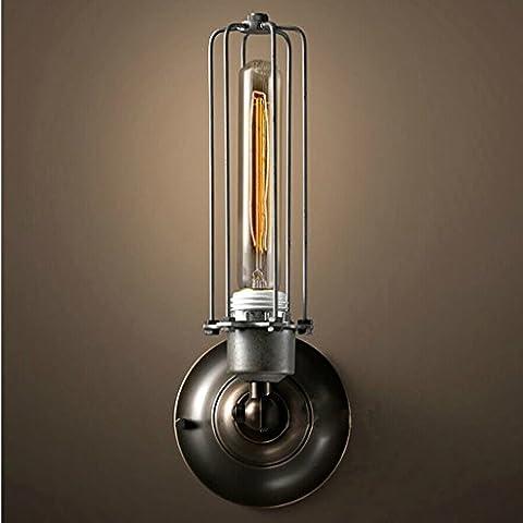DLewiee Industrial del viento retro Cottage Edison flauta lámpara de pared lámpara de mesa de bar Corredor dormitorio de la lámpara de la lámpara lámpara de cabecera del