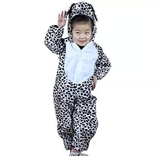 Kinder Tierkostüme Jungen Mädchen Unisex Kostüm Outfit Cosplay Kinder Strampelanzug (Fleckiger Hund, L (Für Kinder 105 - 120 cm ()