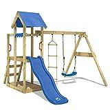 WICKEY Spielturm TinyPlace Kletterturm Spielplatz mit Schaukel und Rutsche, Sandkasten und Strickleiter