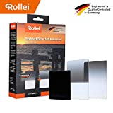 Rollei Rechteckfilter Mark II Set Advanced für 100 mm - Filterset zur Erweiterung für Ihr Starter Kit Pro – für Noch Mehr Kreativität bei Ihren Fotoprojekten, Inkl. 3 Rechteckfilter Mark II