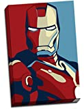 Retro Pop Art Leinwandbild Iron Man Print Poster 76,2x 50,8cm A1