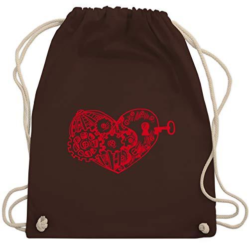Valentinstag - Schlüssel zum Herzen - Unisize - Braun - WM110 - Turnbeutel & Gym Bag