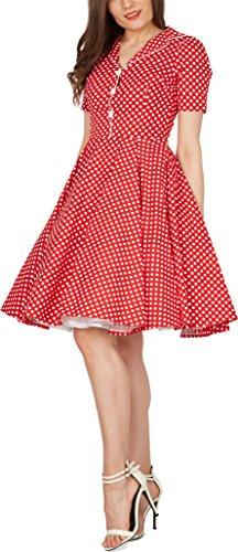 'Sabrina' Vintage Polka-Dots Kleid im 50er-J-Stil - 5