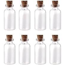 WINOMO Bottiglie di vetro vuoto 50pcs Mini vetro bottiglie flaconi desiderio nota Craft bottiglia