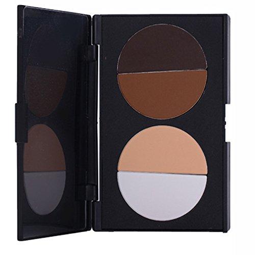 Vococal® Palette 4 Couleurs de Maquillage-Highlight Contour Concealer Poudre pour Le Visage