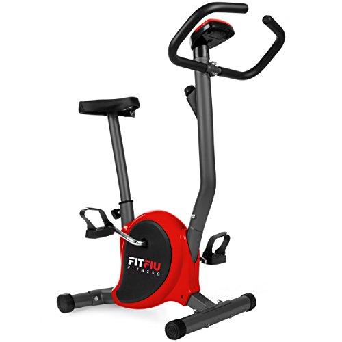 Fitfiu BEST100 - Bicicleta estática regulable ultra-compacta con pantalla LCD,  Rojo