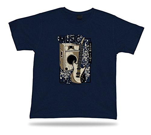 Tshirt Tee Shirt regalo di compleanno Idea Musica dal vivo Emp Guitar Show elettronico a tempo