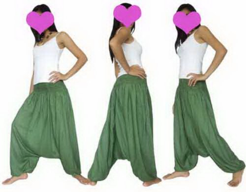 Genie Harem Hose (bird Cool Grün Hose Harem Genie Yoga Pants Aladdin Hippie Baggy Dance Boho)