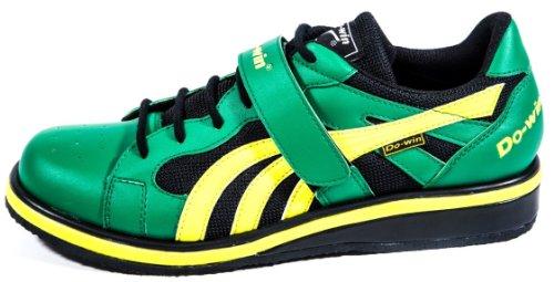Do-Win weightlifting shoes 'Gong Lu II' (Power), UK 5-15, Green/Yellow (15 UK)